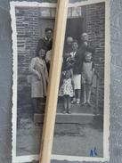 35 JANZE PHOTO FAMILLE SUR LE PERRON D'UNE MAISON 15 JUILLET 1946 - Lieux