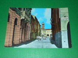 Cartolina Badia Polesine - Via S. Giovanni 1973 - Rovigo