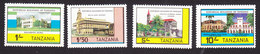 Tanzania, Scott #233-236, Mint Hinged, Historic Buildings, Issued 1983 - Tanzania (1964-...)