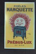 """Publicité Des Poêles Nanquette """" Phébus Lux """"dessin Gypé / Reproduction Photo Print ( Fond Neudin ) - Publicité"""