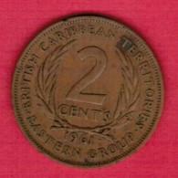 BRITISH CARIBBEAN TERRITORIES   2 CENTS 1961 (KM # 3) - East Caribbean States