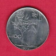 ITALY   100 LIRE 1975 (KM # 96) - 1946-… : Republic