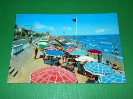 Cartolina Viserba - La Spiaggia 1964 - Rimini