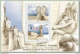 France 2017 - Yv N° F5136 ** - Bataille De La Crête De Vimy (timbres 5136 à 5137) (Mi N° BL 358) - France