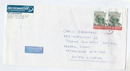 1999 HUNGARY COVER 2x 65  POSTA Stamps  To GB Post - Covers & Documents
