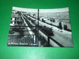 Cartolina Riccione - Lungomare E Spiaggia 1959 - Rimini