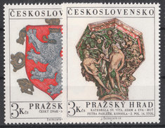 CSSR 1972 Mi. 2071 -72 Yv. 1915 -16 Postfrisch MNH** - Cecoslovacchia