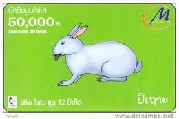 Laos  Phonecard     Zodiak Horoskop Rabbit - Laos