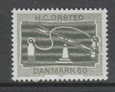 TIMBRE NEUF DU DANEMARK - 150E ANNIVERSAIRE DE LA DECOUVERTE DE L'ELECTROMAGNETISME PAR HANS CH. ORSTED N° Y&T 506 - Physics