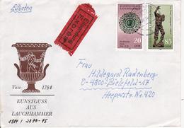 DDR Eil-Satzbrief Mit Michel 2874-2875 - Stempel Tangerhütte 1984 (1065) - Storia Postale