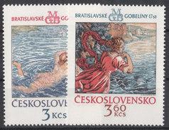 CSSR 1975 Mi. 2265 -66 Yv. 2110 -11 Postfrisch MNH** - Cecoslovacchia