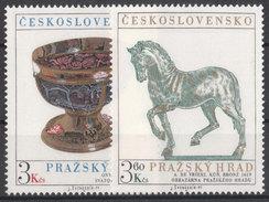 CSSR 1977 Mi. 2375 -76 Yv. 2211 -12 Postfrisch MNH** - Cecoslovacchia