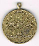 Old Medal 1896 Otto Von Bismarck, Helmuth Von Moltke, Kaiser Wilhelm I. German Empire, Reich, Iron Chancellor. - Adel
