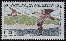 A5796 SAINT PIERRE ET MIQUELON 1996, SG 746 Migratory Birds, Curlew  MNH - Unused Stamps
