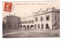 82 Montech Mairie Et Orphelinat Larramet Cpa Animée Edit Sarraut Tabac à Montech Cachet 1909 - Montech