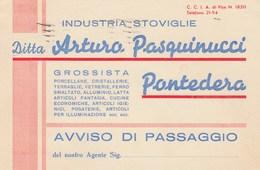 6832.   Pasquinucci - Pontedera - 1949 - Industria Stoviglie Per Foiano Chiana - 1946-.. République