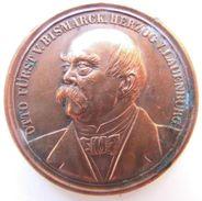 Old Medal 30th July 1898 Otto Von Bismarck's Death. German Empire, Reich, Iron Chancellor. - Royaux/De Noblesse