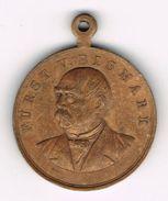 Rare Old Medal 1898 Otto Von Bismarck's Death 1st April 1815 - 30th July 1898. German Empire, Reich, Iron Chancellor. - Royaux/De Noblesse