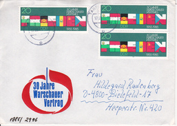 DDR Eil-Satzbrief Mit Michel 2946 (3x) - Stempel Tangerhütte 1985 (1068) - Covers & Documents