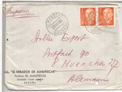 ALMUÑECAR GRANADA CC SELLOBASICA FRANCO AGUJEROS ARCHIVO - 1931-Today: 2nd Rep - ... Juan Carlos I
