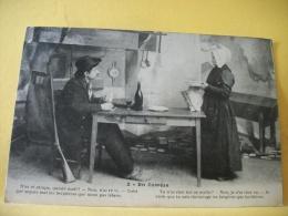 B9 1097 - CPA - 19 EN CORREZE - CHASSEUR ET SA FEMME AU REPAS - 1917 - TEXTE EN PATOIS ET FRANCAIS - Francia