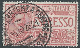 1925-26 REGNO USATO ESPRESSO 70 CENT - R9-9 - Eilsendung (Eilpost)