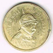 Old Spiel Marke (medal) Otto Von Bismarck, No Date. German Empire, Reich, Iron Chancellor. - Royal/Of Nobility