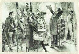 BELGIQUE - Carte N° 2 Du SOIR -- Van Campenhout Face Aux Patriotes Bruxellois Chante La Brabançonne.     ( 2 Scans ) - Evénements