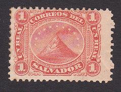 El Salvador, Scott #2, Mint Hinged, Volcano San Miguel, Issued 1867 - El Salvador