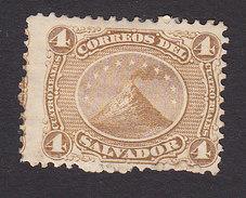 El Salvador, Scott #4, Mint Hinged, Volcano San Miguel, Issued 1867 - El Salvador