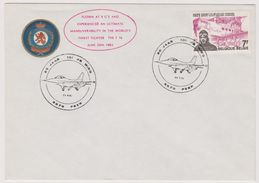 Enveloppe Cover Brief 1782 De Wing Aviation Avion Plane F16 Peer - Cartas