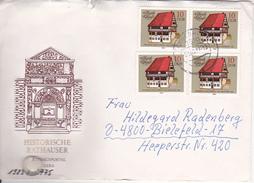 DDR Brief Mit Michel 2775 (4x) - Stempel Tangerhütte 1983 (1075) - Covers & Documents
