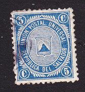 El Salvador, Scott #15, Used, Coat Of Arms, Issued 1879 - Salvador