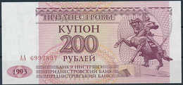 1993 PMR Transnistria 200 Coupon Rubles - Uncirculated - Banknotes