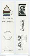 Marque-page - 20ème Anniversaire De La Mort D'André Malraux - Bibliothèque De Maisons-Alfort - Marque-Pages