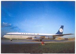 Aviation Postcard-11  SOBELAIR  - Boeing 707  OO-SBU - 1946-....: Moderne