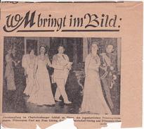 Zeitungsausschnitt Von Ca. 1940 - Empfang Im Charlottenburger Schloss - Prinzregent Paul V. Jugosl, Feldmarschall Göring - Politique Contemporaine