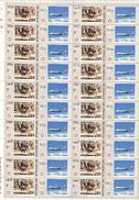 Nicaragua 5c Painting US Bicentennial Full Sheet 40 MNH Never Folded  WYSIWYG Horse Drawn Carriage Boeing 747 1976 A04s - Nicaragua