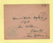 Place De Lure - Le Commandant D Armes - 21-1-1940 - Lure Haute Saone - Marcophilie (Lettres)