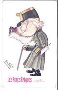 CPA WW1  Illustrateur René Frébet Carte Satirique Soldat Allemand Les Porc Epiques N° 3 Propagande  Anti-Allemande - War 1914-18