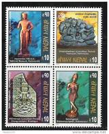 NEPAL 2004  Sculpture Serie, Yvert 771/74, 4v Complete, Setenant  Block,  MNH(**), - Vacanze & Turismo