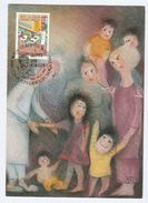 1987 UN Vienna Stamps FDC Maximum Card CHILDREN, SCHOOL,  Stamps Cover - Maximum Cards