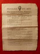MEDECINE PRIVILEGE DU ROY POUR LA VENTE DES GOUTTES AROMATIQUES D ANGLETERRE 1717 - Historische Dokumente