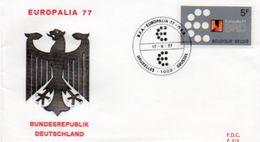 """Gemeenschappelijke Uitgifte Met Duitsland / """"Europalia 77"""" / 17-09-1977 - FDC"""