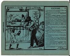 Cahier D´écolier Ancien, Les Sports Illustré Par Jacques OCHS, ESCRIME, Texte De Victor Boin - Voir Scans - Buvards, Protège-cahiers Illustrés