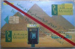 Unused 10 LE Menatel Phonecard Pyramids (Egypte) (Egitto) (Ägypten) (Egipto) (Egypten) - Egypte