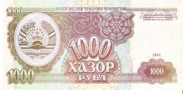 Tajikistan - Pick 9 - 1000 Rubles 1994 - Unc - Tadjikistan