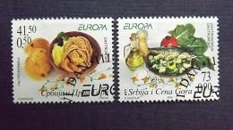 Jugoslawien 3269/70 Yv 3156/7 Oo/ESST, EUROPA/CEPT 2005, Gastronomie - 1992-2003 Sozialistische Republik Jugoslawien
