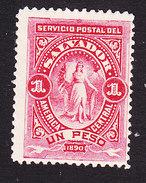 El Salvador, Scott #46, Mint Hinged, Figure Of El Salvador, Issued 1890 - El Salvador