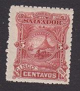 El Salvador, Scott #50, Mint Hinged, Volcano, Issued 1891 - El Salvador
